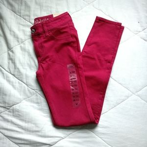 Red knit jeggings (cotton blend) | American Eagle